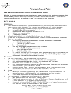 Paramedic Repeat Student Policy