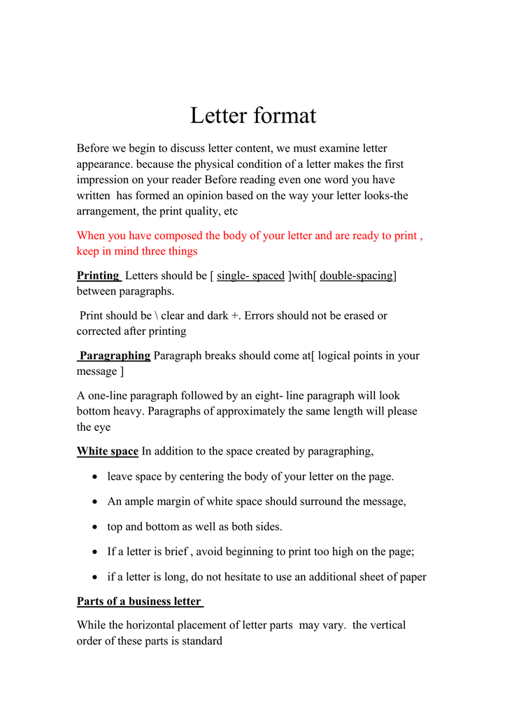 A Business Letter Should Use from s2.studylib.net
