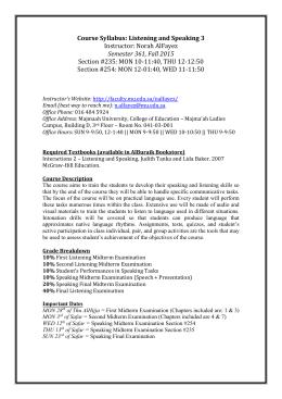 "syllabus hum 105 Humanities 105 ip, ""intercultural communications"" spring 2009 professor: annie galarosa office: be 4111 telephone: (206) agalar@sccdctcedu."