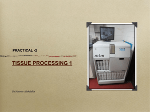 TISSUE PROCESSING 1 PRACTICAL -2 Dr.Nessrin Alabdallat