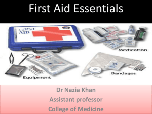 first aid essentials