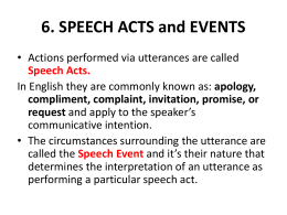 speech act1 What do you know about speech act theory find out with these resources that are available at any time they include a printable worksheet and.