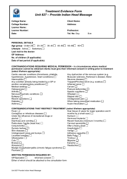 Treatment Evidence Form – Provide Thermal Auricular Therapy Unit 844