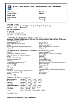 Facial Electrical Treatments Client Consultation Form