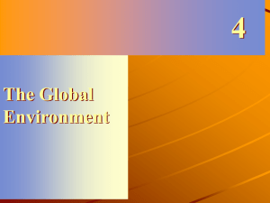The Global Eniorenment