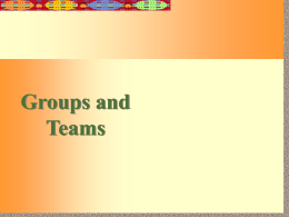 GROUPS & TEAMS