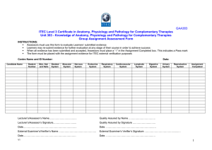 Group Assignment Assessment Form