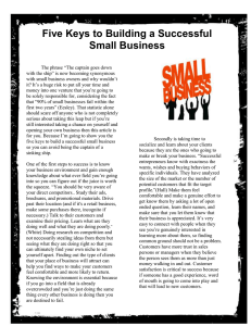 Five Keys to Building a Successful Small Business