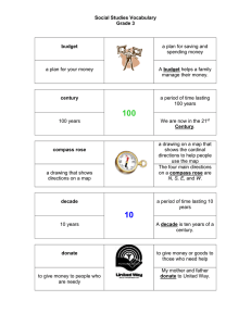 3rd Grade Vocabulary chart with picture support