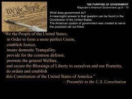 Preamble to the US Constitution slide.ppt