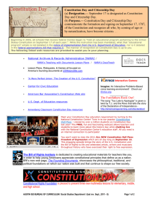 Constitution Day / Celebrate Freedom Week directory of resources