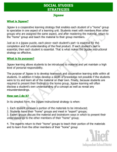 SOCIAL STUDIES STRATEGIES  Jigsaw