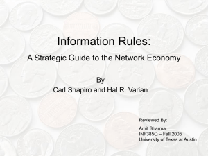 Information Rules: A Strategic Guide to the Network Economy By