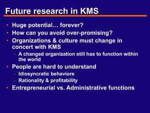 The Future of Knowledge Management Systems