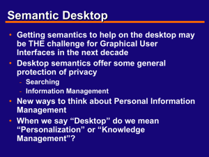 Semantic Desktop
