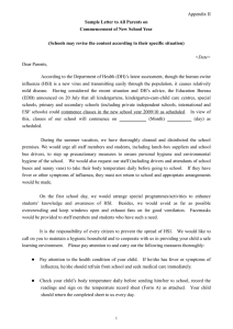 S ample Letter to Parents (Appendix II - Letter of 20 July 2009)
