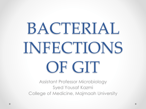 Bacterial infections of GIT