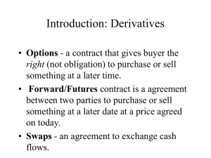 Introduction: Derivatives
