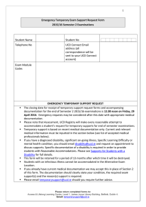 Emergency Temporary Exam Support Request Form (opens in a new window)
