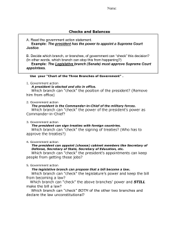 29 Icivics Separation Of Powers Worksheet Answers ...