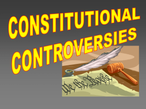 Constitutional Controversies