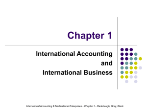 Chapter 1 International Accounting and International Business