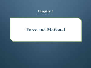 Force and Motion–I chapter 5
