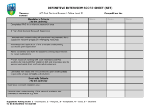 Interview Score Sheet – UCD Postdoctoral Researcher II (SET) (opens in a new window)