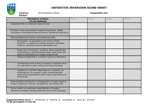 Interview Score Sheet – UCD Research Fellow (opens in a new window)
