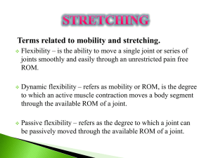 Terms related to mobility and stretching.