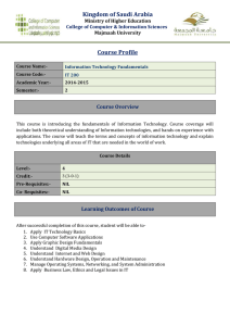 Course Profile - Fundamentals of Information Technoogy
