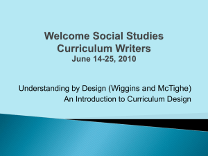 An Introduction to UBD Curriculum Design.ppt
