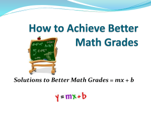 How to Achieve Better Math Grades