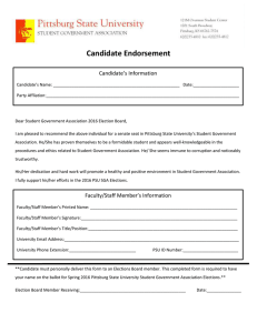 Candidate Endorsement Candidate's Information