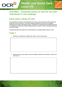 Unit R021 - Early years values of care - Activity (DOC, 2MB)