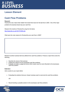 Lesson Element Cash Flow Problems