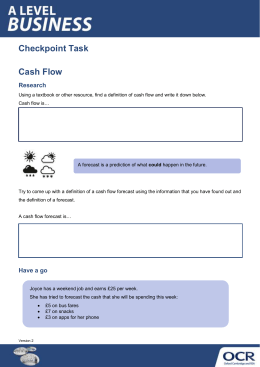 Cash flow - Checkpoint task (DOCX, 9MB) Updated 29/02/2016