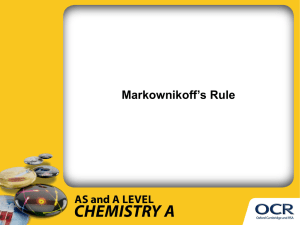 Markownikoff's rule - Presentation (PPT, 1MB)