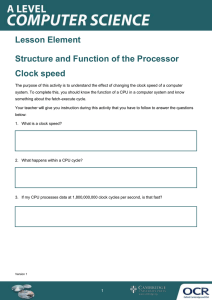 Structure and function of the processor - Learner activity - Lesson element (DOC, 233KB)