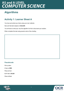 Algorithms topic exploration pack – Learner activity (DOC, 257KB)