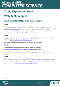 Web technologies - Topic exploration pack - Learner activity (DOCX, 208KB)