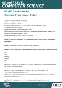 Types of programming language - Checkpoint task - Activity (DOC, 228KB)