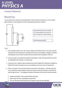 Resistivity - Activity - Lesson element (DOCX, 169KB)