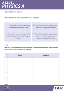 Resistance electrical circuits - Checkpoint task - Activity (DOCX, 140KB)