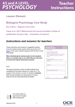 Casey et al - Evaluation of research - Lesson element (DOC, 493KB)