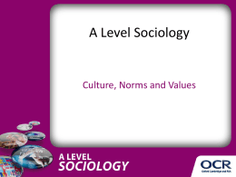 Culture, norms and values - Presentation - Lesson element (PPTX, 1MB)