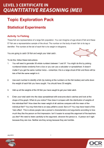 Statistical experiments - Learner activity - Topic exploration pack (DOC, 5MB)