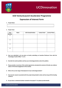 UCD VentureLaunch Accelerator Programme Application Form Final (opens in a new window)
