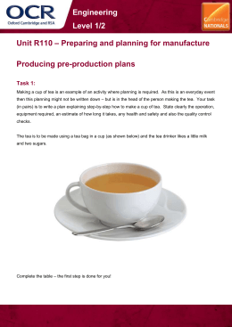 Unit R110 - Producing pre-production plans - Learner task (DOC, 1MB)