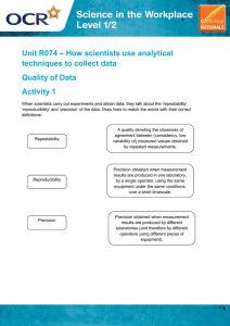 Unit R074 - Quality of data - Lesson element - Learner task (DOC, 384KB) New